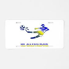 El Salvador Soccer Player Aluminum License Plate