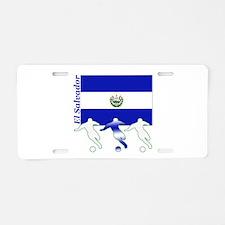 El Salvador Soccer Aluminum License Plate
