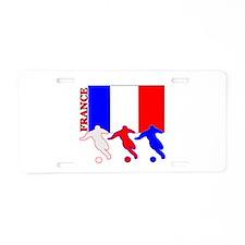 Soccer France Aluminum License Plate