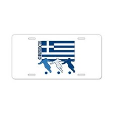 Soccer Greece Aluminum License Plate