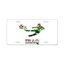Iraq Soccer Player Aluminum License Plate