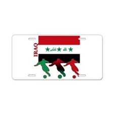 Iraq Soccer Aluminum License Plate