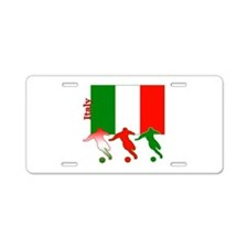 Italy Soccer Aluminum License Plate