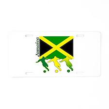 Jamaica Soccer Aluminum License Plate