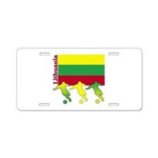 Lithuania Soccer Aluminum License Plate