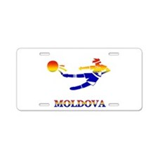Moldova Soccer Player Aluminum License Plate