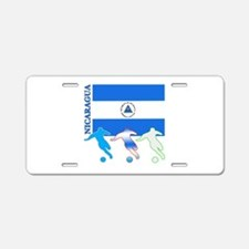 Nicaragua Soccer Aluminum License Plate