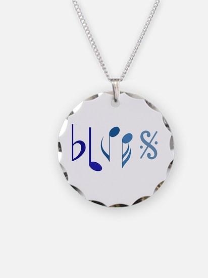 Blues Necklace Circle Charm
