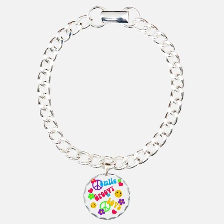 Smile Groovy Love Peace Bracelet
