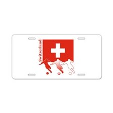 Switzerland Soccer Aluminum License Plate