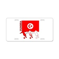 Tunisia Soccer Aluminum License Plate
