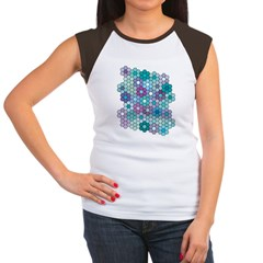 Grandfather's Flower Garden Women's Cap Sleeve Tee