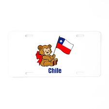 Chile Teddy Bear Aluminum License Plate