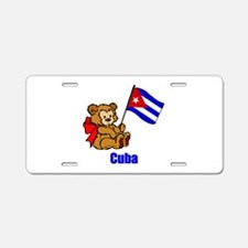 Cuba Teddy Bear Aluminum License Plate