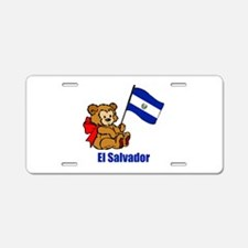El Salvador Teddy Bear Aluminum License Plate