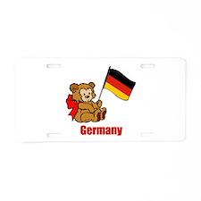 Germany Teddy Bear Aluminum License Plate