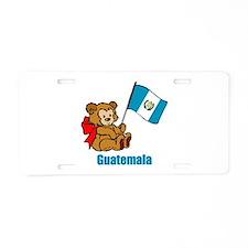 Guatemala Teddy Bear Aluminum License Plate