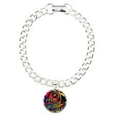Lucky Peace Sign Collage Bracelet