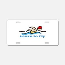 Learn to Fly Aluminum License Plate