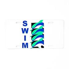 Swim Dolphins Aluminum License Plate
