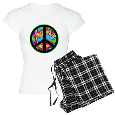 Peace Sign Women's Light Pajamas
