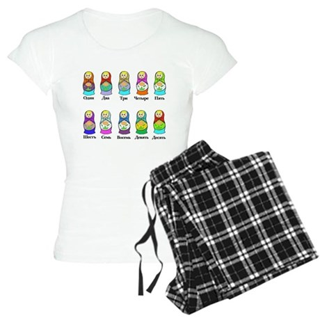 Nesting Dolls Women's Light Pajamas