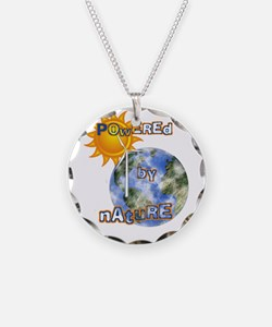Powered By Nature Necklace Circle Charm