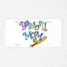Baseball Mom Aluminum License Plate