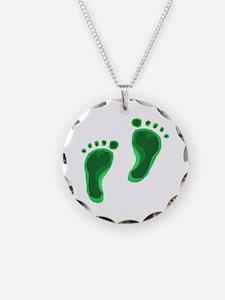 Carbon Footprint Renewable En Necklace
