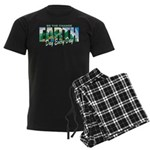 Earth Day Be The Change Men's Dark Pajamas
