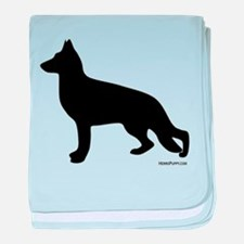 GSD Silhouette baby blanket