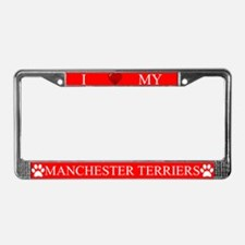Red I Love My Manchester Terriers Frame