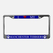 Blue I Love My Manchester Terriers Frame