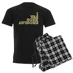 I Was Born Awesome Men's Dark Pajamas