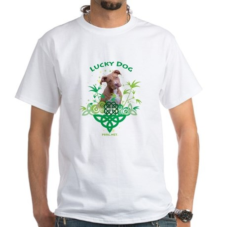 Lucky Dog White T-Shirt