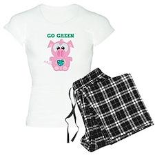 Go Green Earth Day Piggy Pig Pajamas