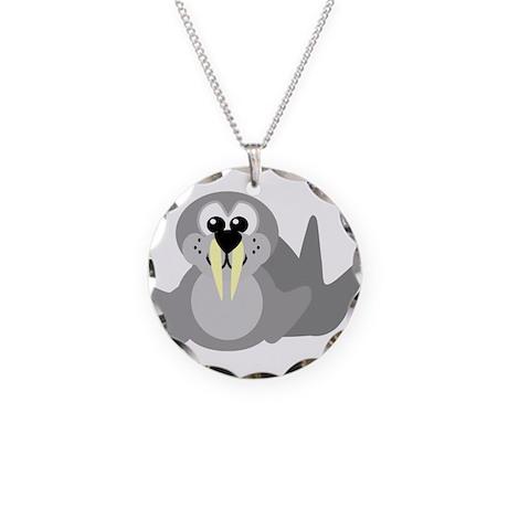 Cute Little Walrus Necklace Circle Charm