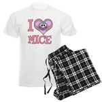 I Love (Heart) Mice Men's Light Pajamas