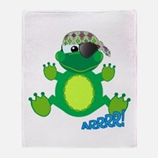 Goofkins Froggy Frog Pirate Throw Blanket