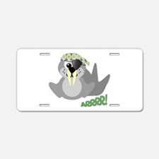 Goofkins Walrus Pirate Aluminum License Plate