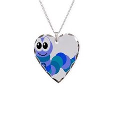 Blue Awareness Ribbon Goofkin Necklace Heart Charm