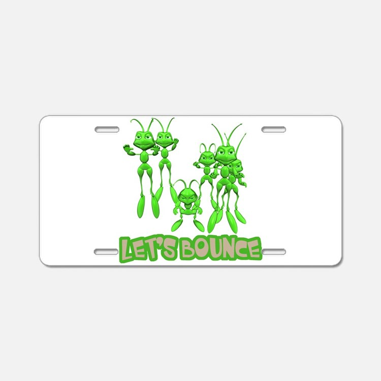 Let's Bounce Grasshoppers Aluminum License Plate