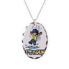 Let's Bounce Jumping in Puddl Necklace