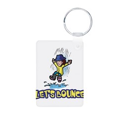 Let's Bounce Jumping in Puddl Keychains