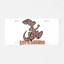 Let's Bounce Kangaroo Aluminum License Plate