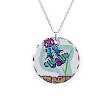Let's Bounce Pogo Stick Necklace Circle Charm