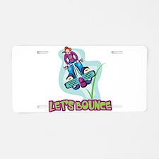 Let's Bounce Pogo Stick Aluminum License Plate