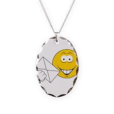 Postal Smiley Face Necklace