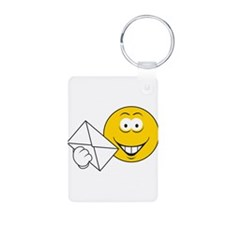 Postal Smiley Face Keychains