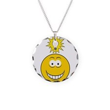 Bright Idea Smart Smiley Face Necklace